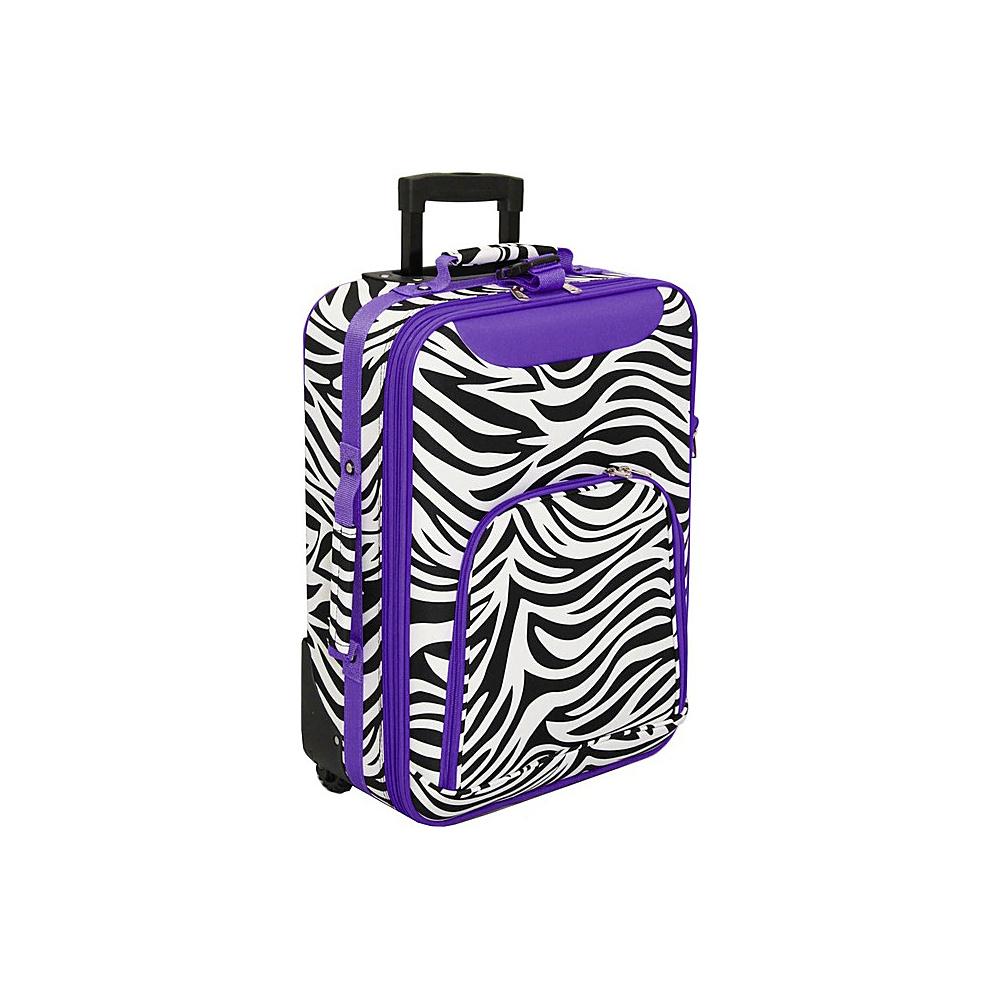 World Traveler Zebra 20 Rolling Carry-On Dark  Purple Trim Zebra - World Traveler Softside Carry-On - Luggage, Softside Carry-On