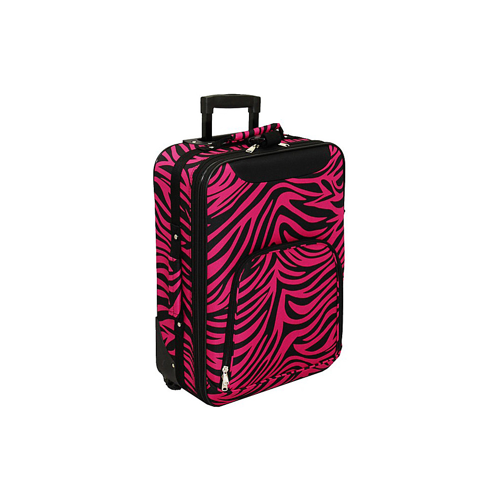 World Traveler Zebra 20 Rolling Carry-On Fuchsia Black Zebra - World Traveler Softside Carry-On - Luggage, Softside Carry-On