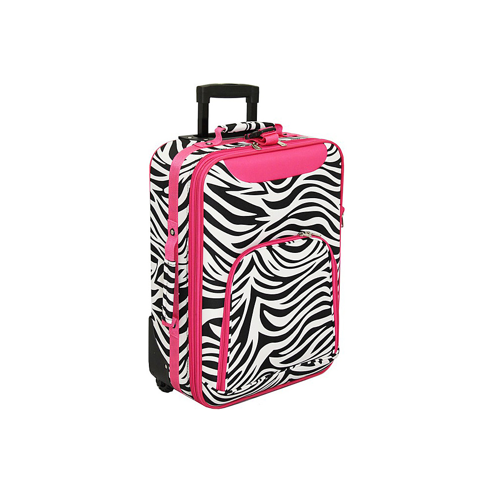 World Traveler Zebra 20 Rolling Carry-On Pink Trim Zebra - World Traveler Softside Carry-On - Luggage, Softside Carry-On