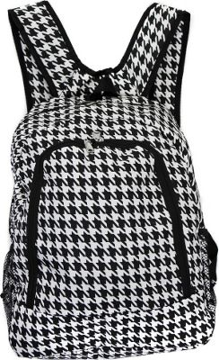 World Traveler Houndstooth 16 inch Multipurpose Backpack Black Trim Houndstooth - World Traveler Everyday Backpacks