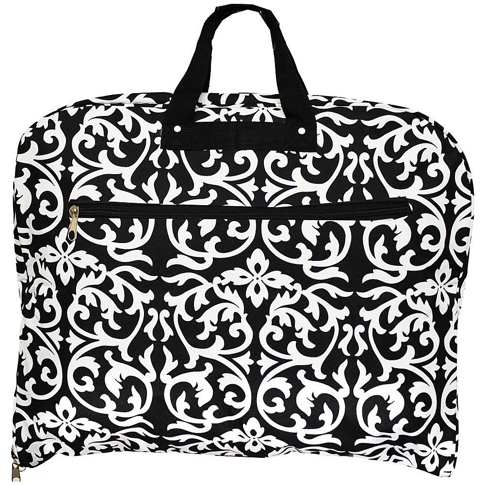 World Traveler Damask 40 Hanging Garment Bag Black Trim Damask - World Traveler Garment Bags - Luggage, Garment Bags