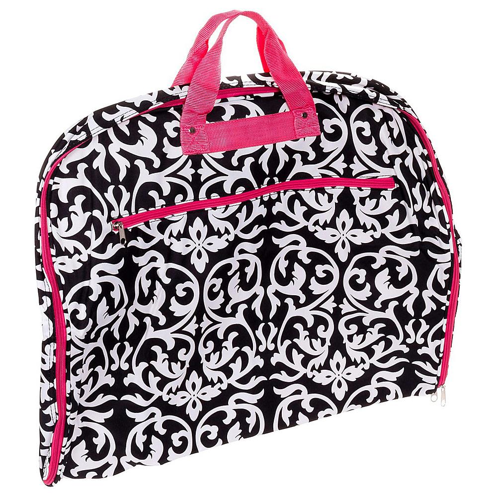 World Traveler Damask 40 Hanging Garment Bag Pink Trim Damask - World Traveler Garment Bags - Luggage, Garment Bags