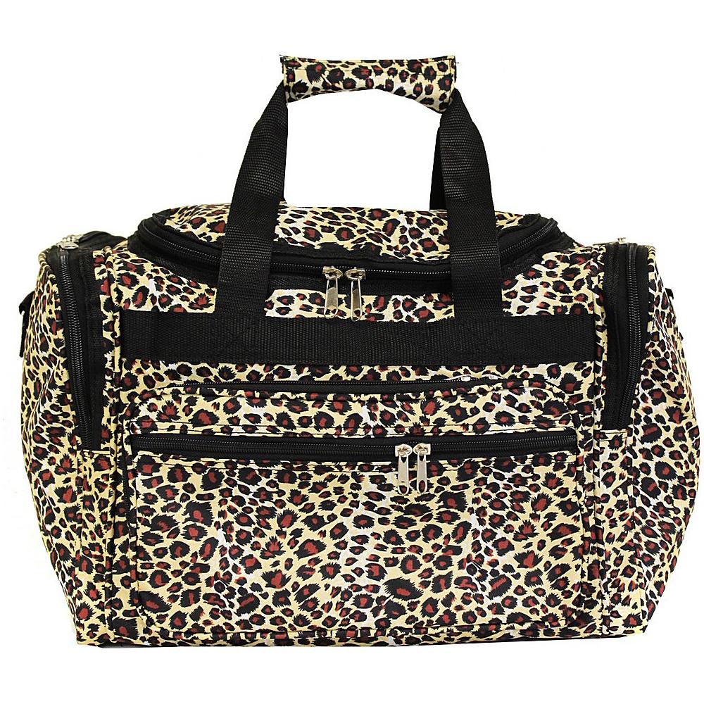 World Traveler Leopard 16 Shoulder Duffle Bag Leopard - World Traveler Rolling Duffels - Luggage, Rolling Duffels