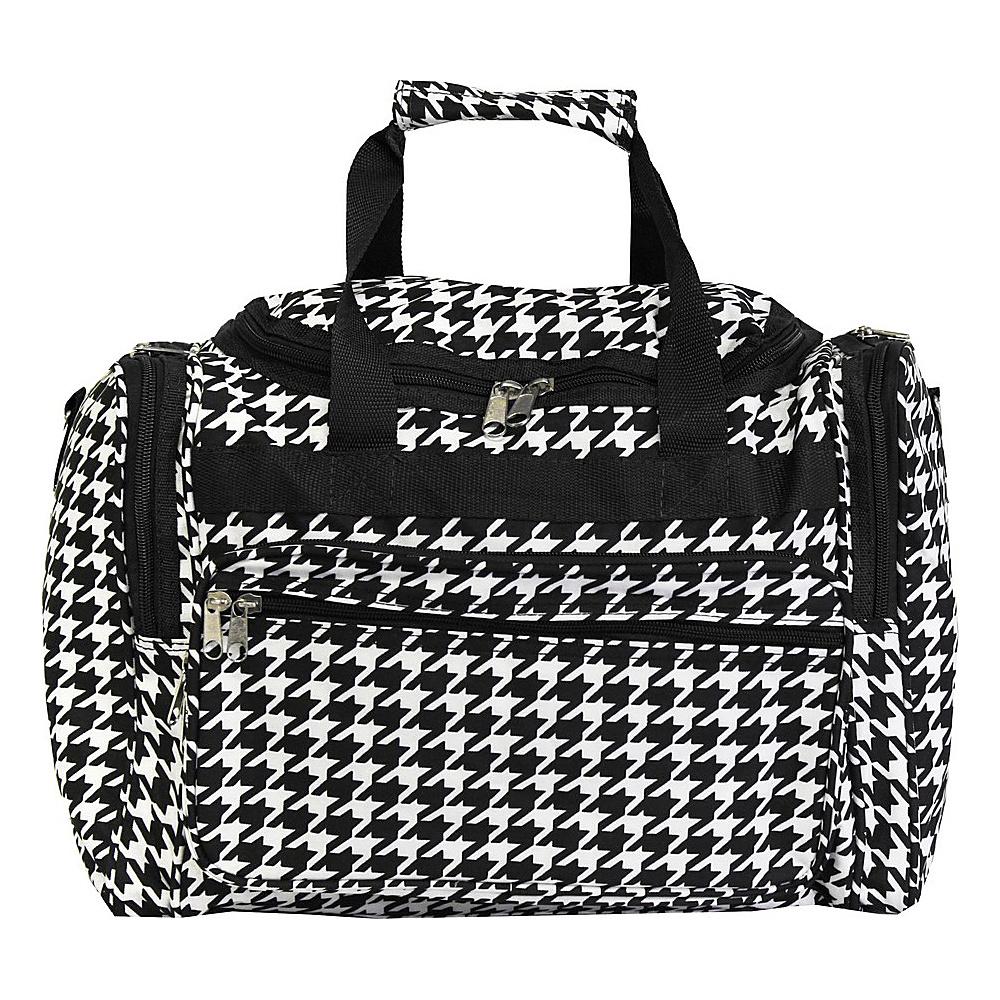 World Traveler Houndstooth 16 Shoulder Duffle Bag Black Trim Houndstooth - World Traveler Rolling Duffels - Luggage, Rolling Duffels
