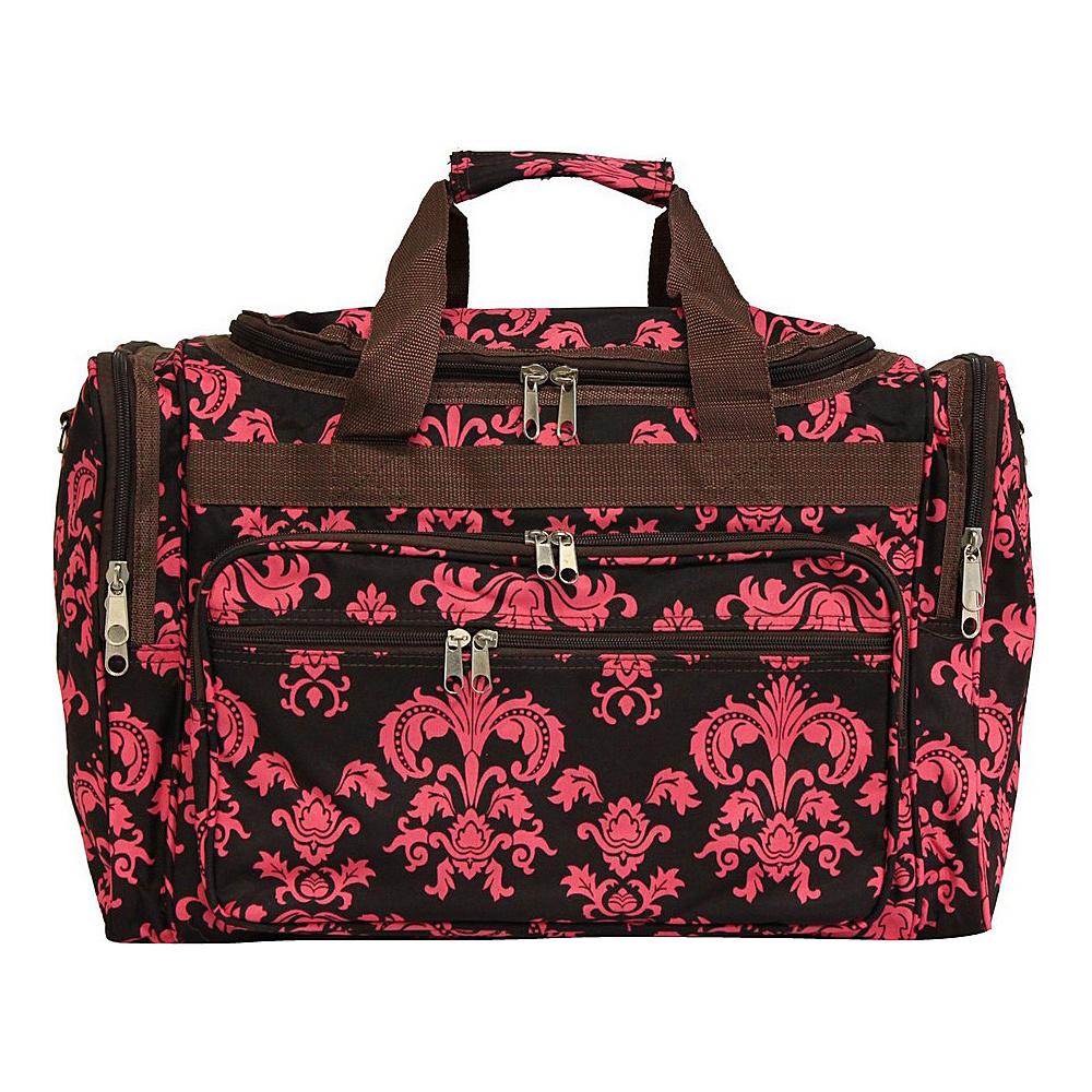 World Traveler Damask II 19 Shoulder Duffle Bag Brown Pink Damask ll - World Traveler Rolling Duffels - Luggage, Rolling Duffels