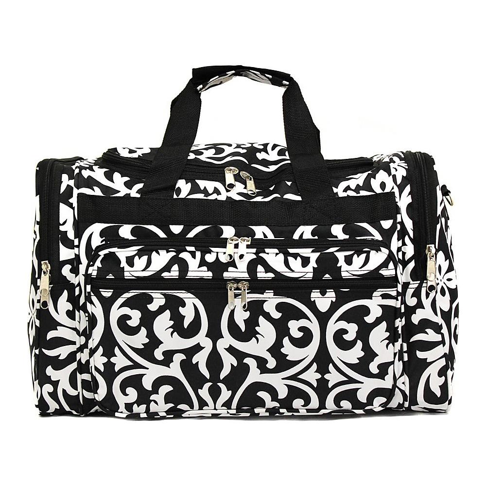 World Traveler Damask 22 Travel Duffle Bag Black Trim Damask - World Traveler Rolling Duffels - Luggage, Rolling Duffels