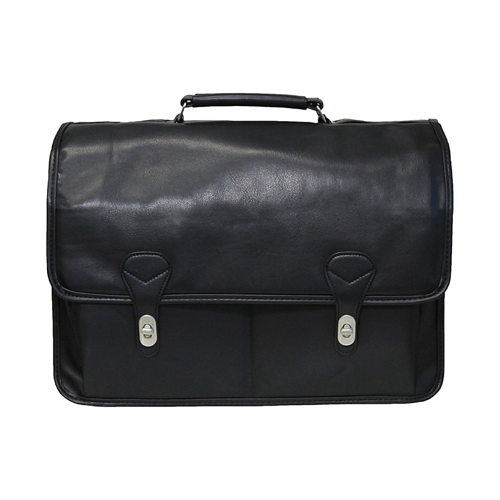 World Traveler Deluxe Doctor-Style Flap-Over Computer Briefcase Black - World Traveler Non-Wheeled Business Cases