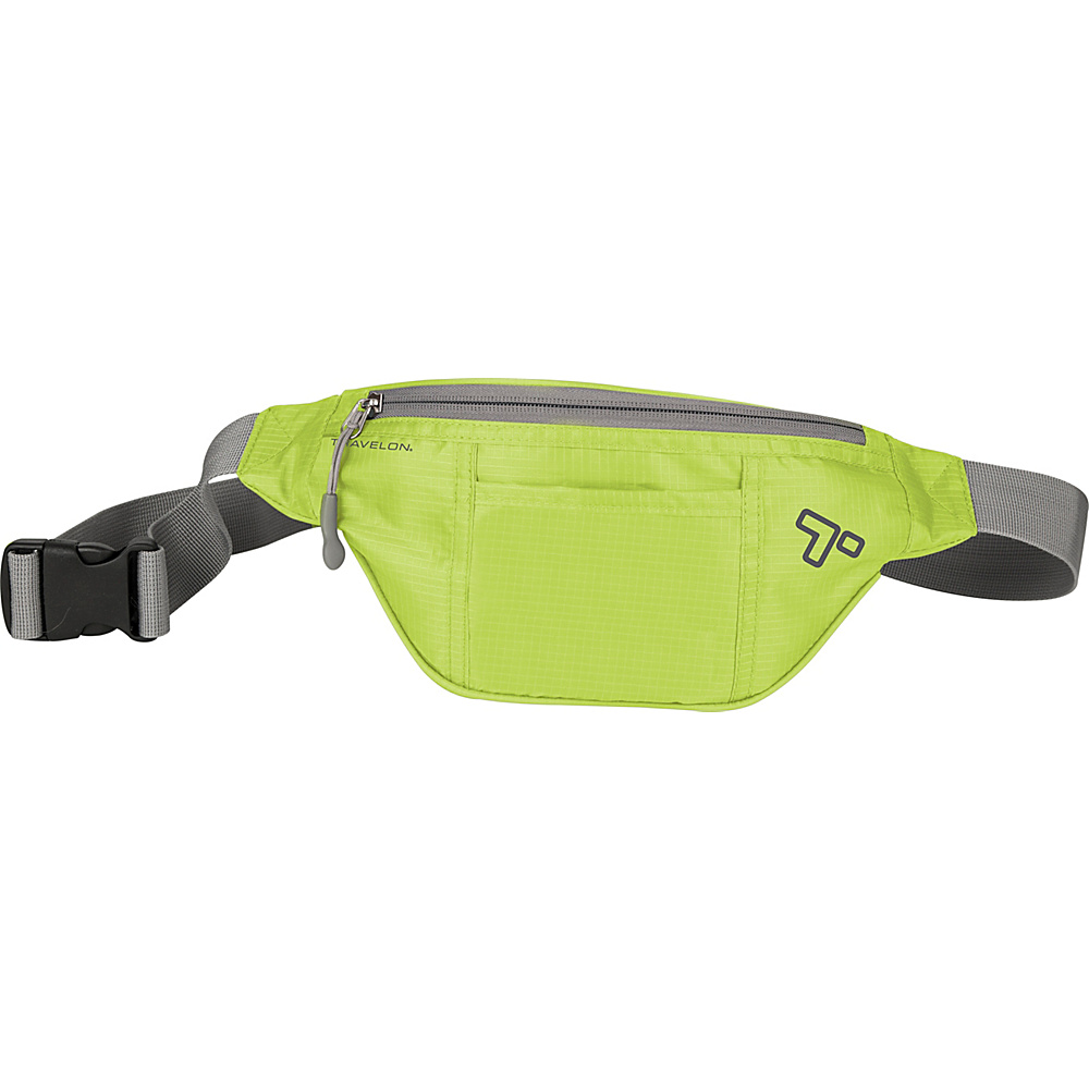 Travelon Top Zip Waistpack Lime - Travelon Waist Packs - Backpacks, Waist Packs