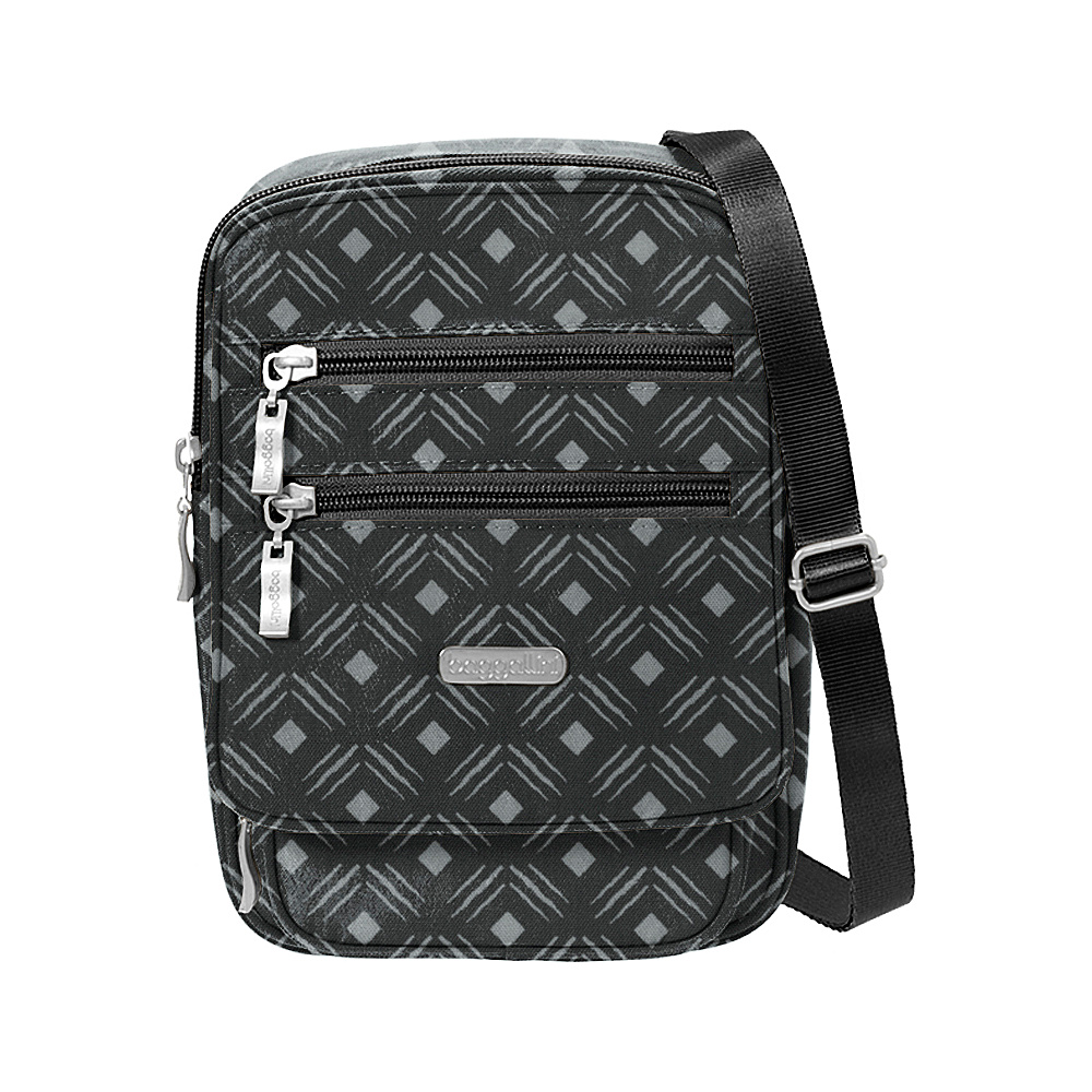 baggallini Journey Crossbody Black Diamond Print - baggallini Fabric Handbags - Handbags, Fabric Handbags
