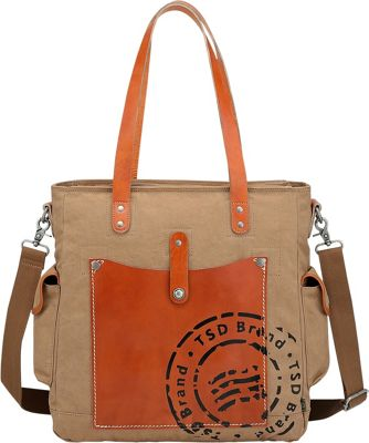 TSD Super Horse Tote Brown - TSD Fabric Handbags