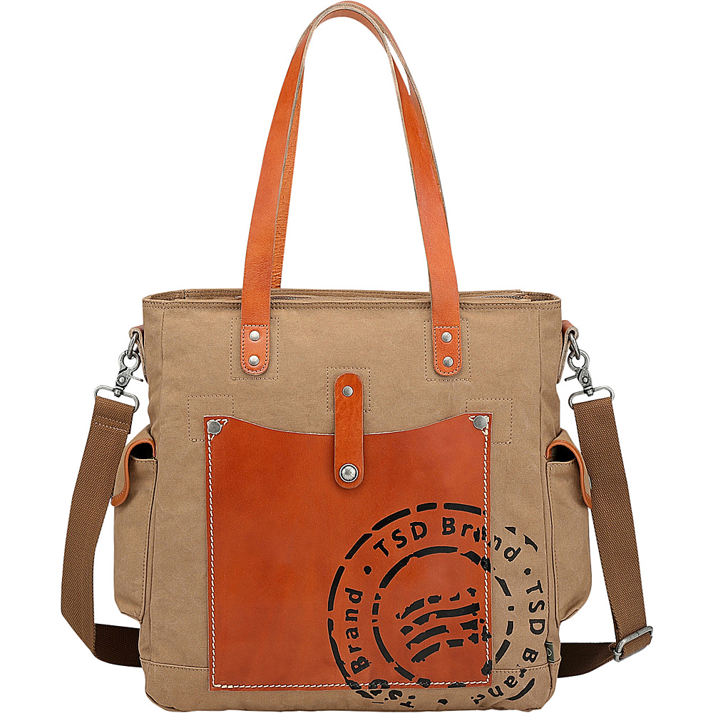 TSD Super Horse Tote Brown - TSD Fabric Handbags