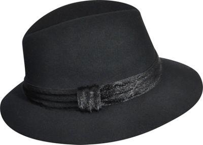 Karen Kane Hats Felt Fedora M/L - Black - Karen Kane Hats Hats/Gloves/Scarves