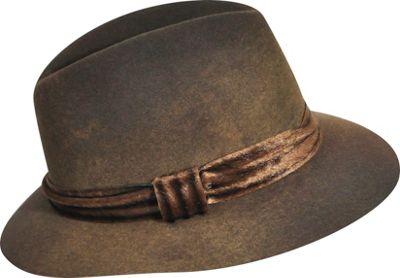 Karen Kane Hats Felt Fedora M/L - Coffee Swirl-Medium/Large - Karen Kane Hats Hats/Gloves/Scarves