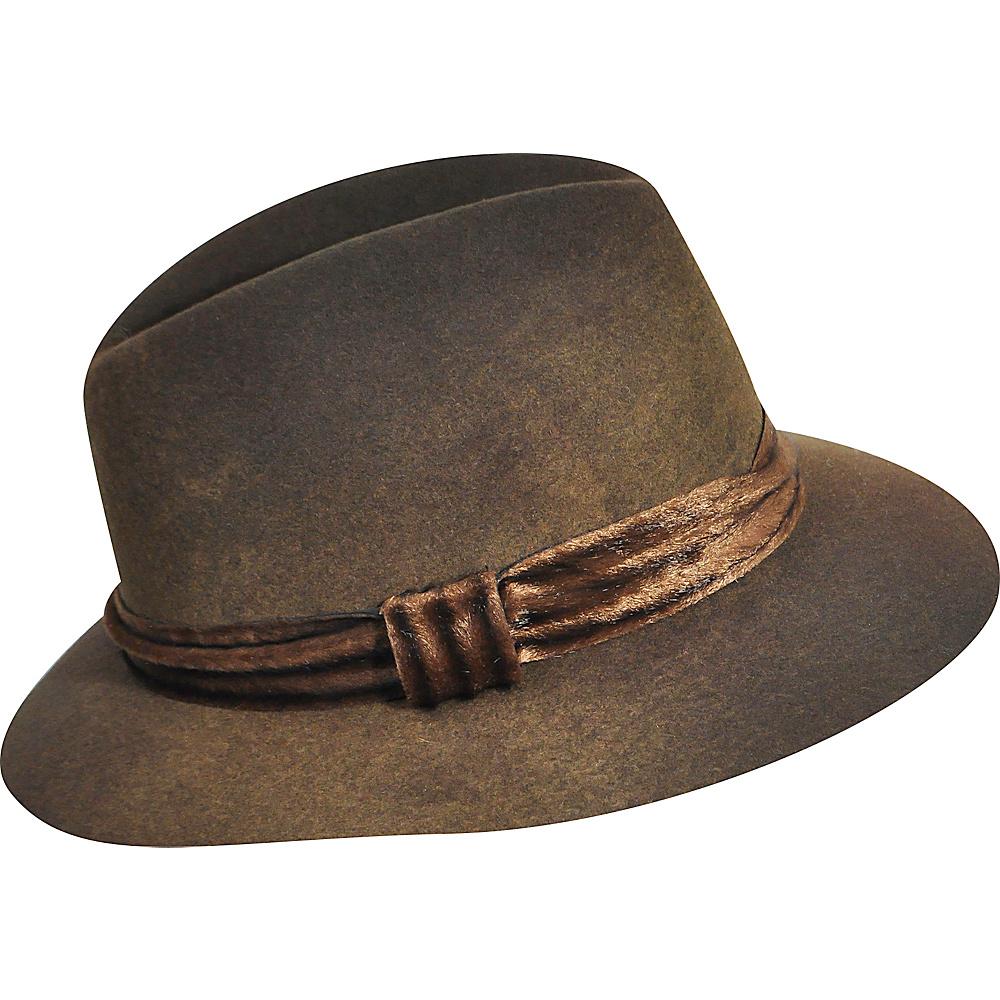 Karen Kane Hats Felt Fedora Coffee Swirl Medium Large Karen Kane Hats Hats Gloves Scarves