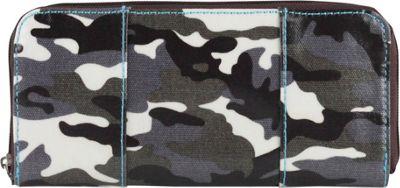 Urban Junket Erin Checkbook Wallet Grey Camouflage - Urban Junket Women's Wallets