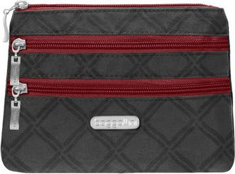 Image of baggallini 3 Zip Cosmetic Case Charcoal Link - baggallini Women's SLG Other