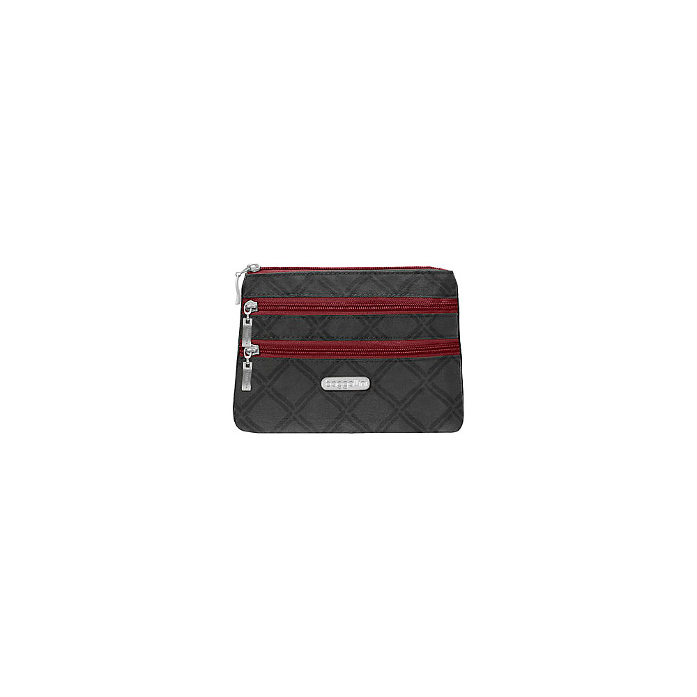 baggallini 3 Zip Cosmetic Case Charcoal Link - baggallini Womens SLG Other - Women's SLG, Women's SLG Other