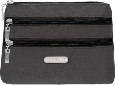 Image of baggallini 3 Zip Cosmetic Case Black/Charcoal - baggallini Women's SLG Other