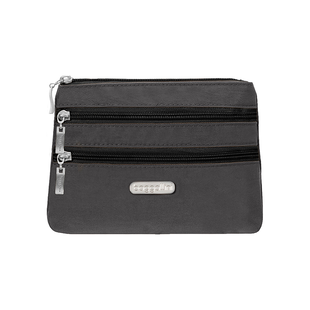 baggallini 3 Zip Cosmetic Case Black/Charcoal - baggallini Womens SLG Other - Women's SLG, Women's SLG Other