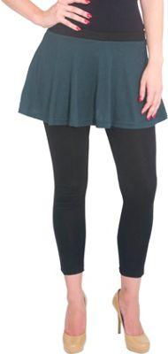 Magid Cotton Flary Skirt Leggings 1X/2X - Olive - Large/Extra Large - Magid Women's Apparel