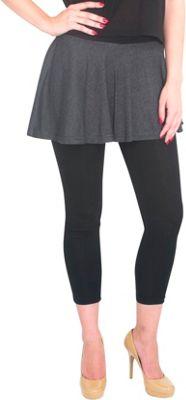 Magid Cotton Flary Skirt Leggings 1X/2X - Dark Grey - Extra Extra Large - Magid Women's Apparel