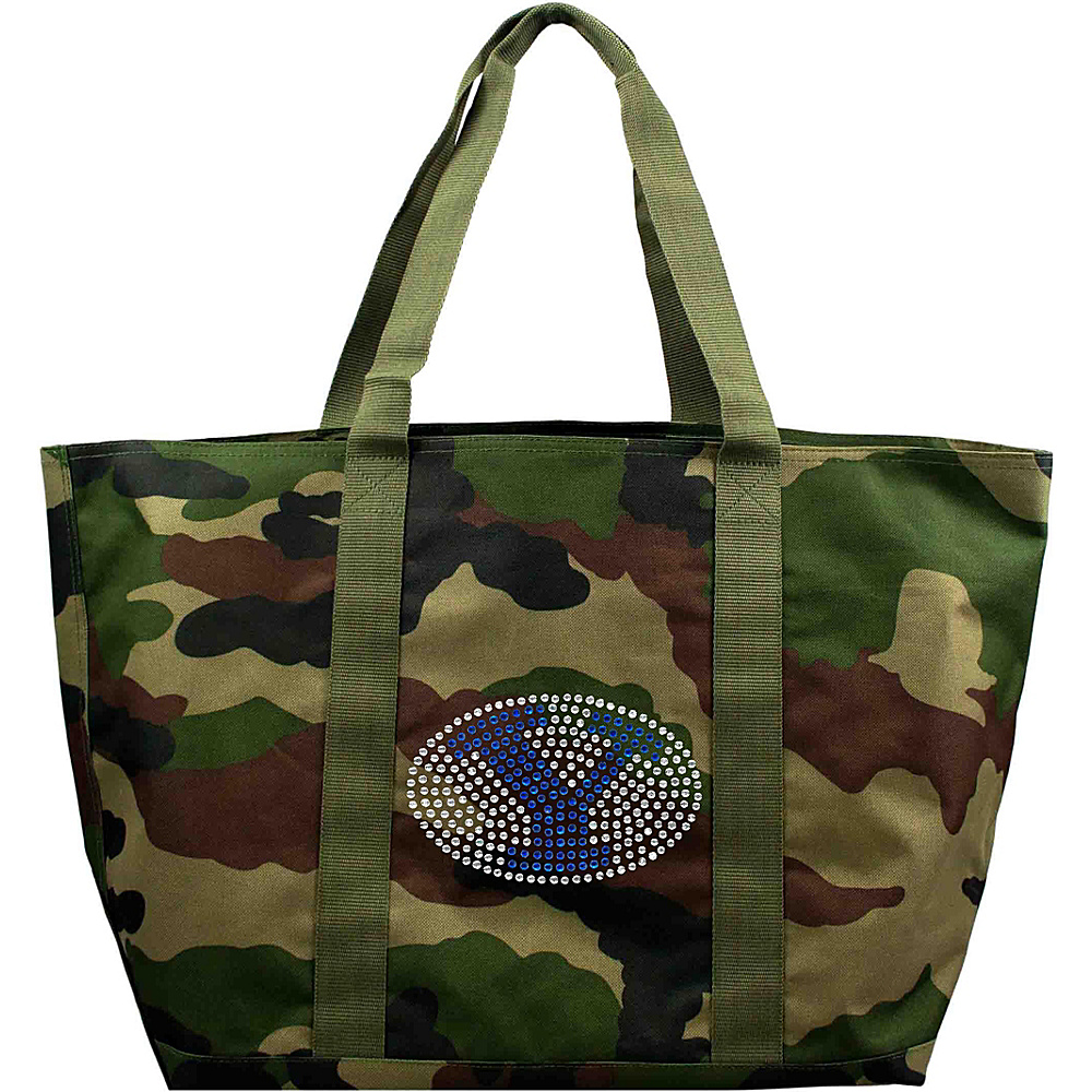 Littlearth Camo Tote - Independent Teams Brigham Young University - Littlearth Fabric Handbags - Handbags, Fabric Handbags