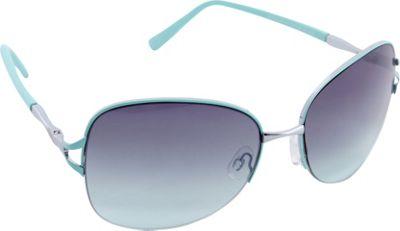 Nanette Nanette Lepore Sunglasses Semi Rimless Frame Sunglasses Silver/Aqua - Nanette Nanette Lepore Sunglasses Sunglasses