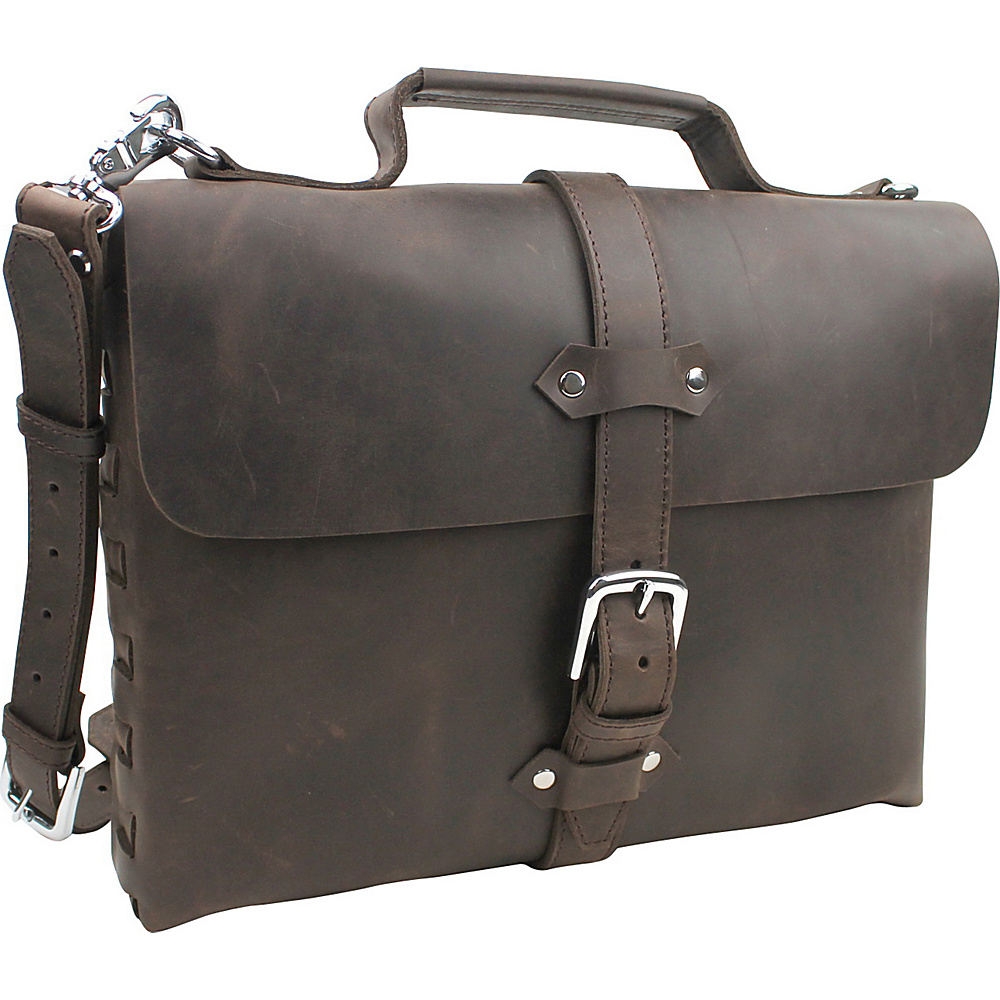 Vagabond Traveler Full Leather Handmade Messenger Bag Dark Brown - Vagabond Traveler Messenger Bags - Work Bags & Briefcases, Messenger Bags