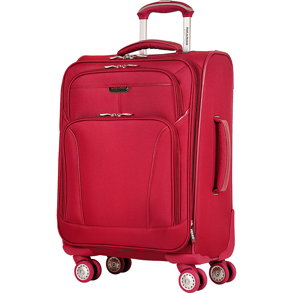 Ricardo Beverly Hills Lockwood 20 Spinner Carry On Red Cherry Ricardo Beverly Hills Softside Carry On