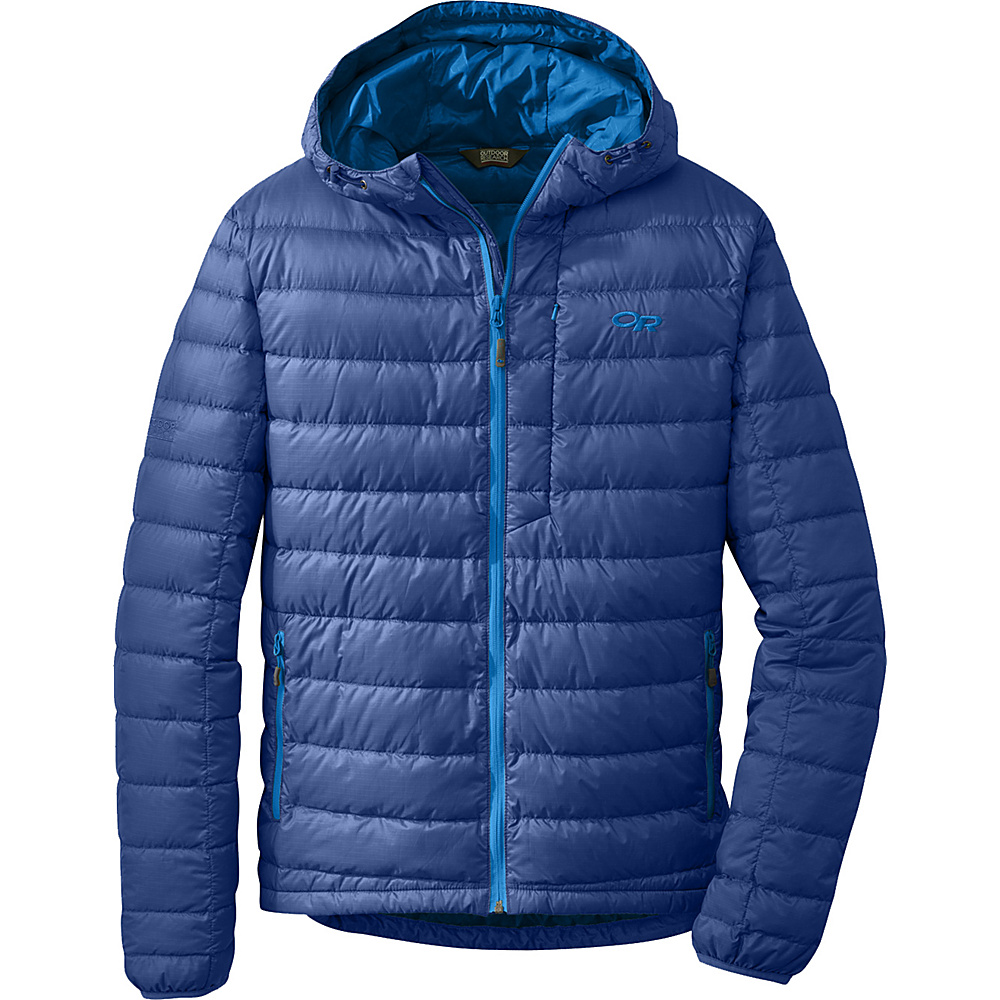 Outdoor Research Mens Transcendent Hoody S - Baltic/Glacier - Outdoor Research Mens Apparel - Apparel & Footwear, Men's Apparel