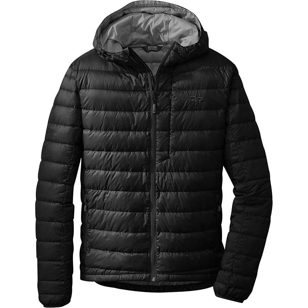 Outdoor Research Mens Transcendent Hoody M - Black - Outdoor Research Mens Apparel - Apparel & Footwear, Men's Apparel