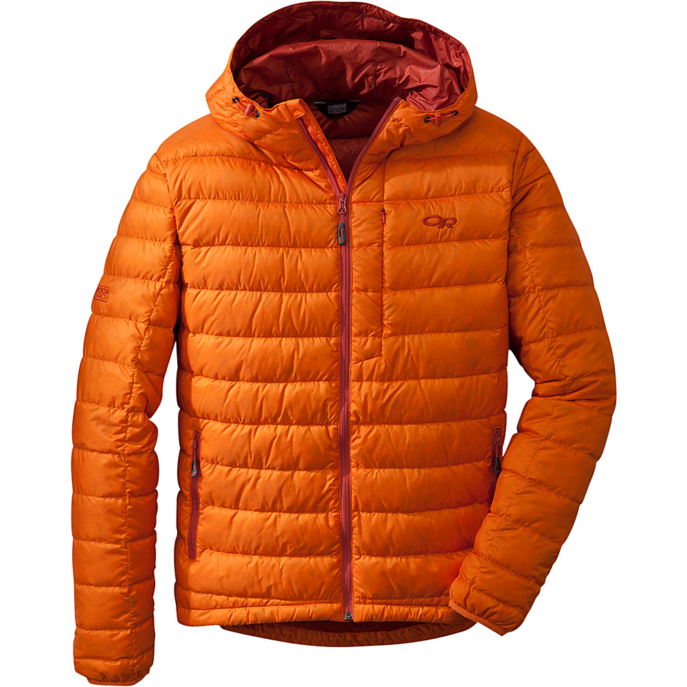 Outdoor Research Mens Transcendent Hoody M - Bengal/Diablo - Outdoor Research Mens Apparel - Apparel & Footwear, Men's Apparel