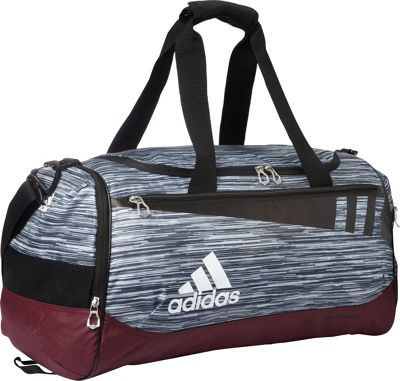 adidas Team Issue Medium Duffle Grey Loopermaroonblackwhite - adidas Gym Duffels