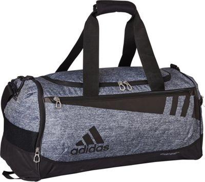 adidas Team Issue Medium Duffle Onix Jersey/Black - adidas Gym Duffels