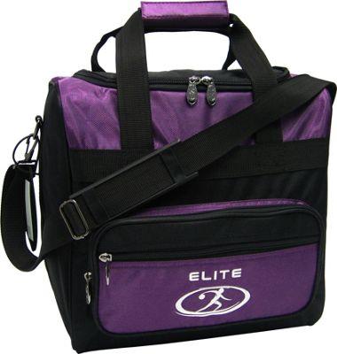Elite Bowling Impression Bowling Bag Purple/Black - Elite Bowling Bowling Bags
