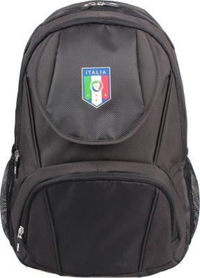 Federazione Italiana Giuoco Calcio Laptop Backpack Black - Federazione Italiana Giuoco Calcio Business & Laptop Backpacks