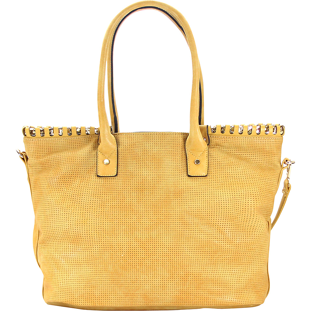 Chasse Wells Sunny Day Shoulder Tote Mustard Chasse Wells Manmade Handbags