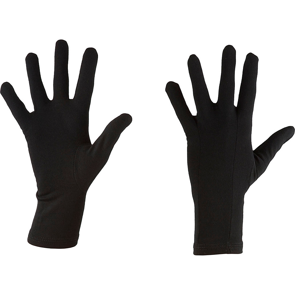 Icebreaker Oasis Glove Liners XL - Black - Icebreaker Hats/Gloves/Scarves - Fashion Accessories, Hats/Gloves/Scarves