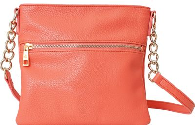 Chic Buds Chic Buds Crossbody Power Coral - Chic Buds Manmade Handbags