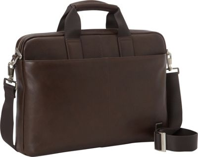 KNOMO London Brompton/Durham Full Leather Slim Laptop Carrier 15 inch Brown - KNOMO London Non-Wheeled Business Cases