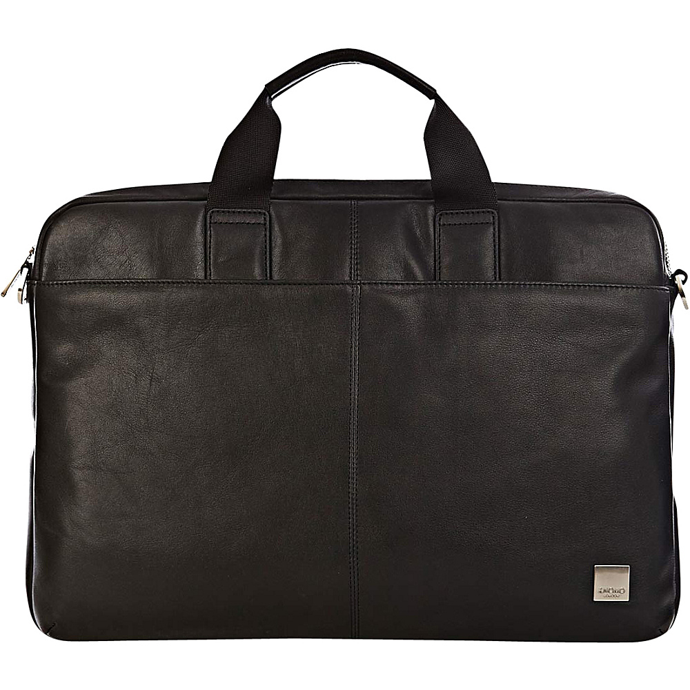 KNOMO London Brompton Durham Full Leather Slim Laptop Carrier 15 Black KNOMO London Non Wheeled Business Cases