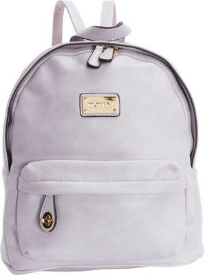 Diophy Signature Logo Backpack Light Lavender - Diophy Everyday Backpacks