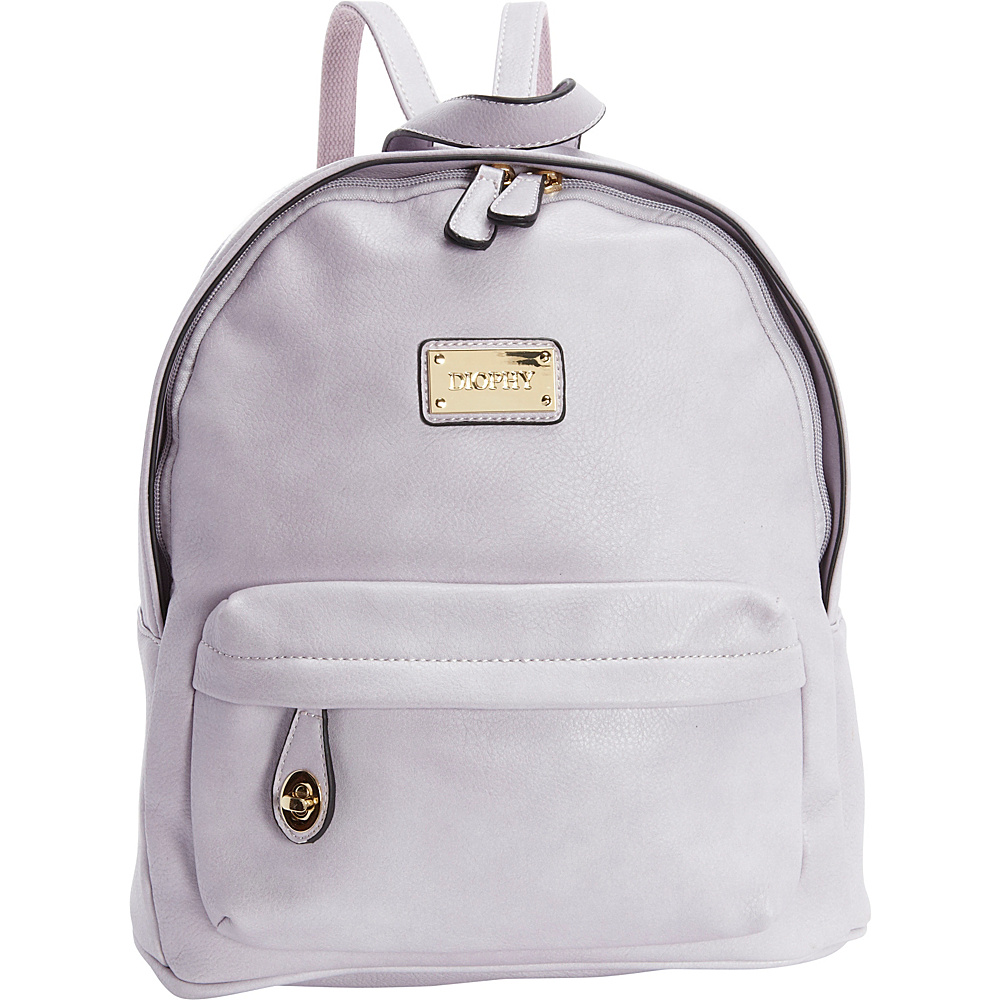 Diophy Signature Logo Backpack Light Lavender Diophy Everyday Backpacks