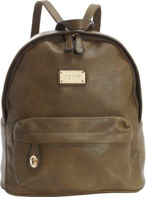 Diophy Signature Logo Backpack Olive - Diophy Everyday Backpacks