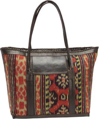 TLC&you Nirwana Large Tote Red/Black/Mustard - TLC&you Fabric Handbags