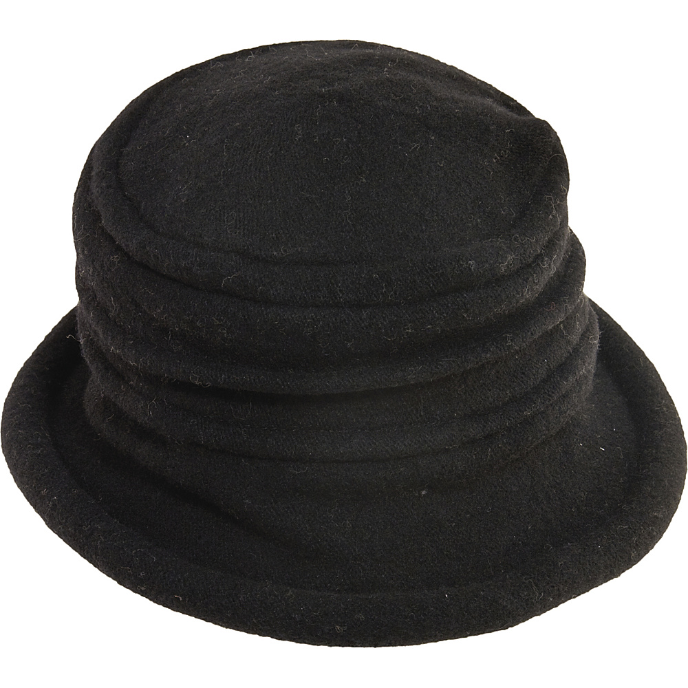 Scala Hats Packable Wool Cloche Black Scala Hats Hats Gloves Scarves