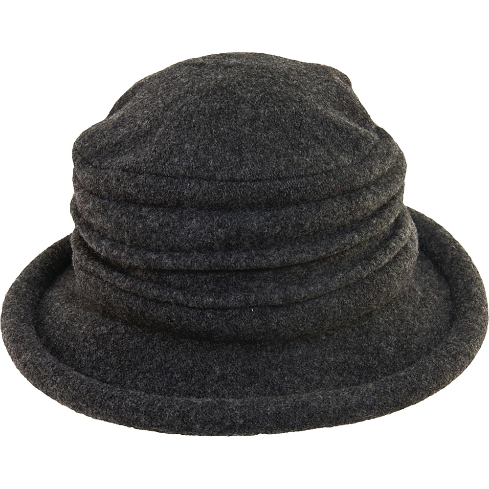 Scala Hats Packable Wool Cloche Charcoal Scala Hats Hats Gloves Scarves