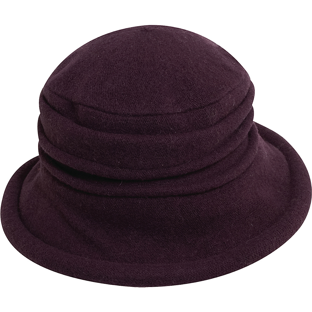 Scala Hats Packable Wool Cloche Plum Scala Hats Hats Gloves Scarves