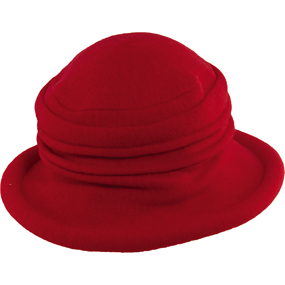 Scala Hats Packable Wool Cloche Red Scala Hats Hats Gloves Scarves