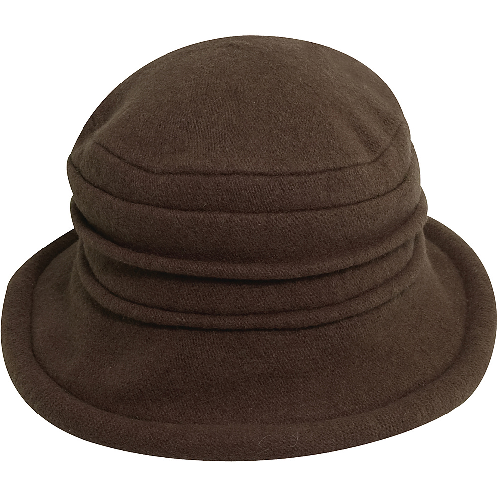Scala Hats Packable Wool Cloche Walnut Scala Hats Hats Gloves Scarves